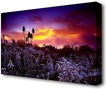 Winter Skies Flowers Canvas Print Wall Art East