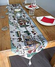 Winter Wonderland Christmas Tapestry Table Runner