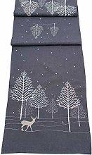 Winter Woods Table Runner (35cm x 190cm)