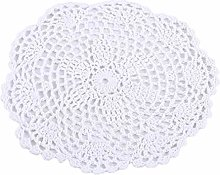 Winwinfly Hand Crochet Round Placemats and