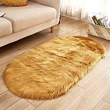 WIONE Faux Sheepskin Rug,Fur Faux Fleece Fluffy