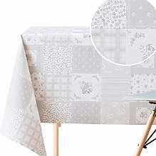Wipe Clean Pattern Tablecloth With Floral Theme