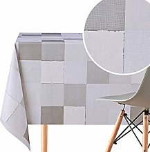 Wipe Clean Pattern Tablecloth With Patchwork Quilt
