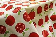 Wipe Clean PVC, Tablecloth, Oilcloth, Vinyl - Red