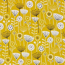 Wipe Clean Tablecloth Yellow Floral Scandinavian