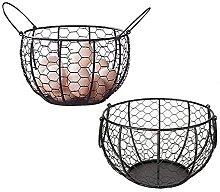 Wire Egg Basket,Metal Egg Storage Basket with