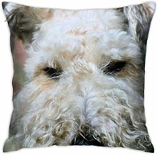 Wire Haired Fox Terrier Pillow Cover Decorative