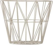 Wire Medium Basket by Ferm Living Grey