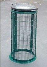 Wire Mesh Sack Holder Outdoor Bin, Green by
