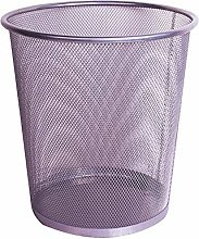 Wire Metal Mesh Coverless Trash Can Household