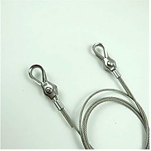 Wire Rope Clamp, 2pcs Thimbles Ring Clamp + 2pcs