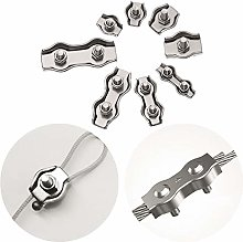 Wire Rope Clamp, 5Pcs M2-M5 Stainless Steel