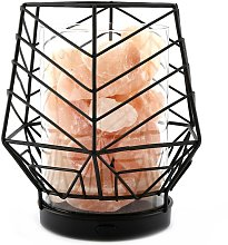 Wire Salt Lamp (One Size) (Black/White) -