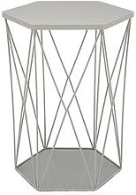 Wire Storage Basket Table - Grey