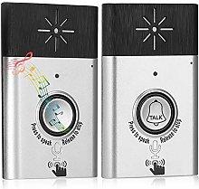 Wireless 2-Way Voice Intercom Doorbell, Built-in