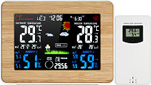 Wireless Color LCD Weather Station Alarm Clock