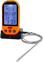 Wireless Remote Digital Thermometer Timer Cooking