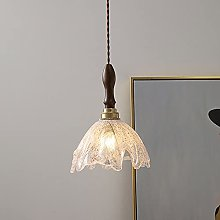 WISHVYQ E27/E26 Japanese Walnut Pendant Light