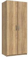 Wister Two Door Wardrobe Natural Rustic Oak 1830