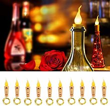 Wisvis 10Pack Wine Bottle Lights with Cork -