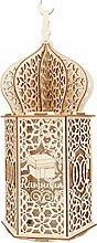 Wisvis Eid Mubarak Night Light DIY Wooden Ramadan