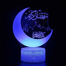 Wisvis Muslim Ramadan Decorative Lights 3D Bedside