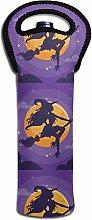 Witch Silhouette Dark Halloween Night Wine Thermal