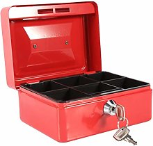with 2 Keys 6 Compartments Design Safe Box