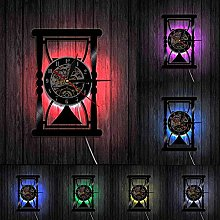 with 7 Colors Led Lighting, Wall Hourglass, Wall