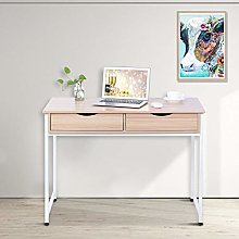 with Double Drawers Wood Laptop Desk Table Durable