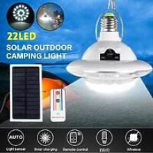 [with remote control] 22 LED Solar Camping Bulbs