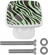 with Screws Black and Green Lines 4 Pcs Cabinet