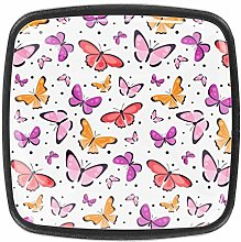 with Screws Cabinet Door Knobs Butterflies Pink