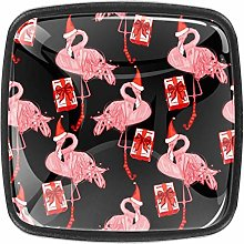 with Screws Christmas Hat Pink Red Gifts Flamingo