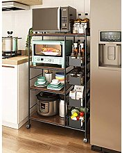 With Universal Wheels Kitchen Cart Serving