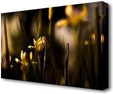 Withered Yellow Flowers Flowers Canvas Print Wall