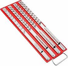 Wivarra 80Pc Socket Tray Rack 1/4 inch, 3/8 inch,