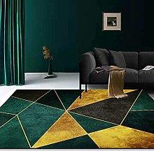 WIVION Geometric Rug Modern Dark Green Carpet