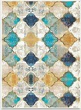 WIVION Home Rug Retro Moroccan Ethnic Style Carpet