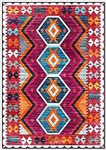 WIVION Multicolor Rug Vintage Bohemian Carpet Red