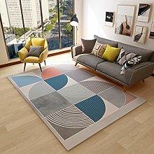 WIVION Rectangle Rug Modern Gray Geometry Carpet