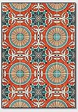 WIVION Retro Home Rug, Euporean Pattern Area Rugs