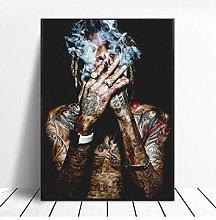 Wiz Khalifa Rap Music Hip-Hop Art Fabric Poster