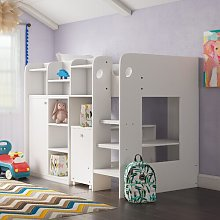 Wizard Single High Sleeper Loft Bed with Shelf