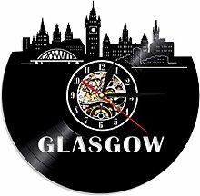 Wjchao Vinyl Wall Clock Glasgow Minimalist Wall