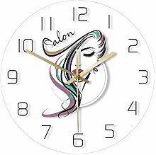 Wjchao Wall Clock Beauty Time Hair Salon