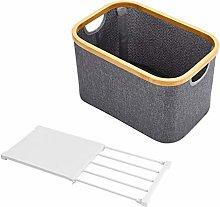 WJCRYPD Foldable Storage Basket Gray Laundry