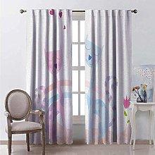 WJDJT 3D Blackout Curtains Kids Bedroom Thermal