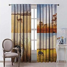 WJDJT 3D Blackout Curtains Thermal Insulated