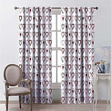 WJDJT Blackout Curtains 3D Polyester Thermal